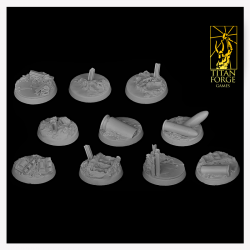 Trench Round Bases 25 mm (7)