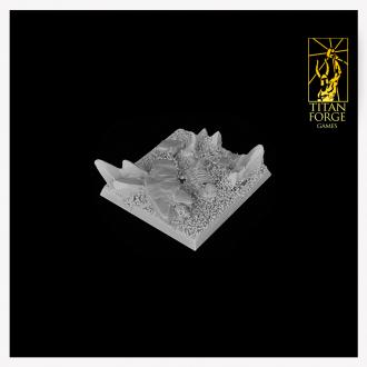Daemonic Wasteland Square Bases 40mm (3)