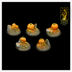 Halloween Round Bases 30mm (5)