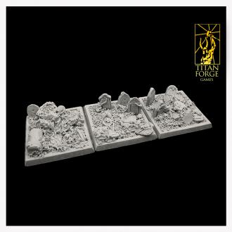 Graveyard Square Bases 40x40mm (3)